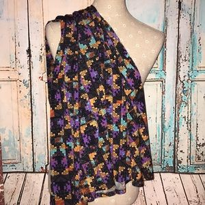 LULAROE~Abstract Puzzle Print~ MAXI A-line Skirt~L